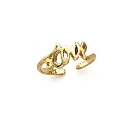 14k Yellow Gold Love Toe Ring - .8 Grams 14k Love Toe Ring