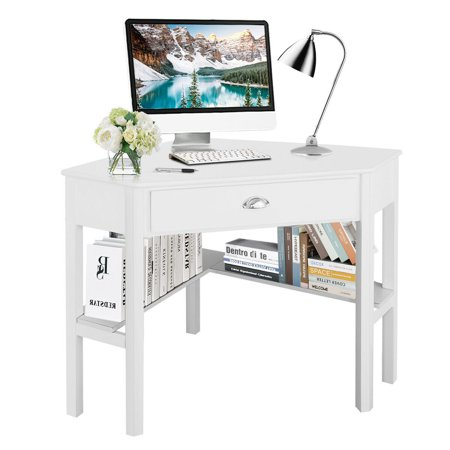 Costway Corner Computer Desk Laptop Writing Table Wood Workstation Home Office -