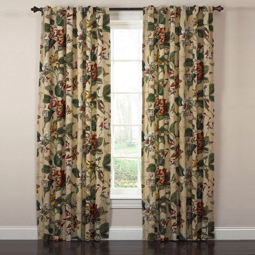 Waverly Laurel Springs Lined Panel Pair with Tie Backs