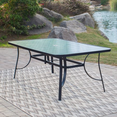 Coral coast wimberley 72 x 42 in rectangle glass top patio dining rectangle glass top patio dining table brown watchthetrailerfo