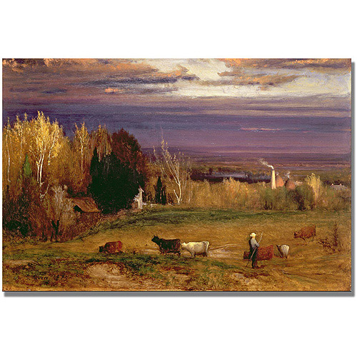 "Trademark Fine Art ""Sunshine After Storm Or Sunset"" Canvas Wall Art by George Inness"
