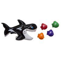 """Swim Way 7"""" Gobble Guppies Swim and Learn Whale Pool Children's Toy - Vibrantly Colored"""