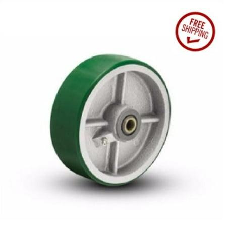 "Polyurethane on Steel 8"" Diameter x 2"" Wheel with 3/4"" to 5/8"" Bearing Spanner"