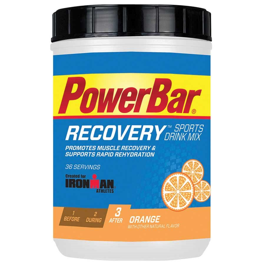 PowerBar Ironman Recovery Drink Mix: Orange, 36 Serving Canister
