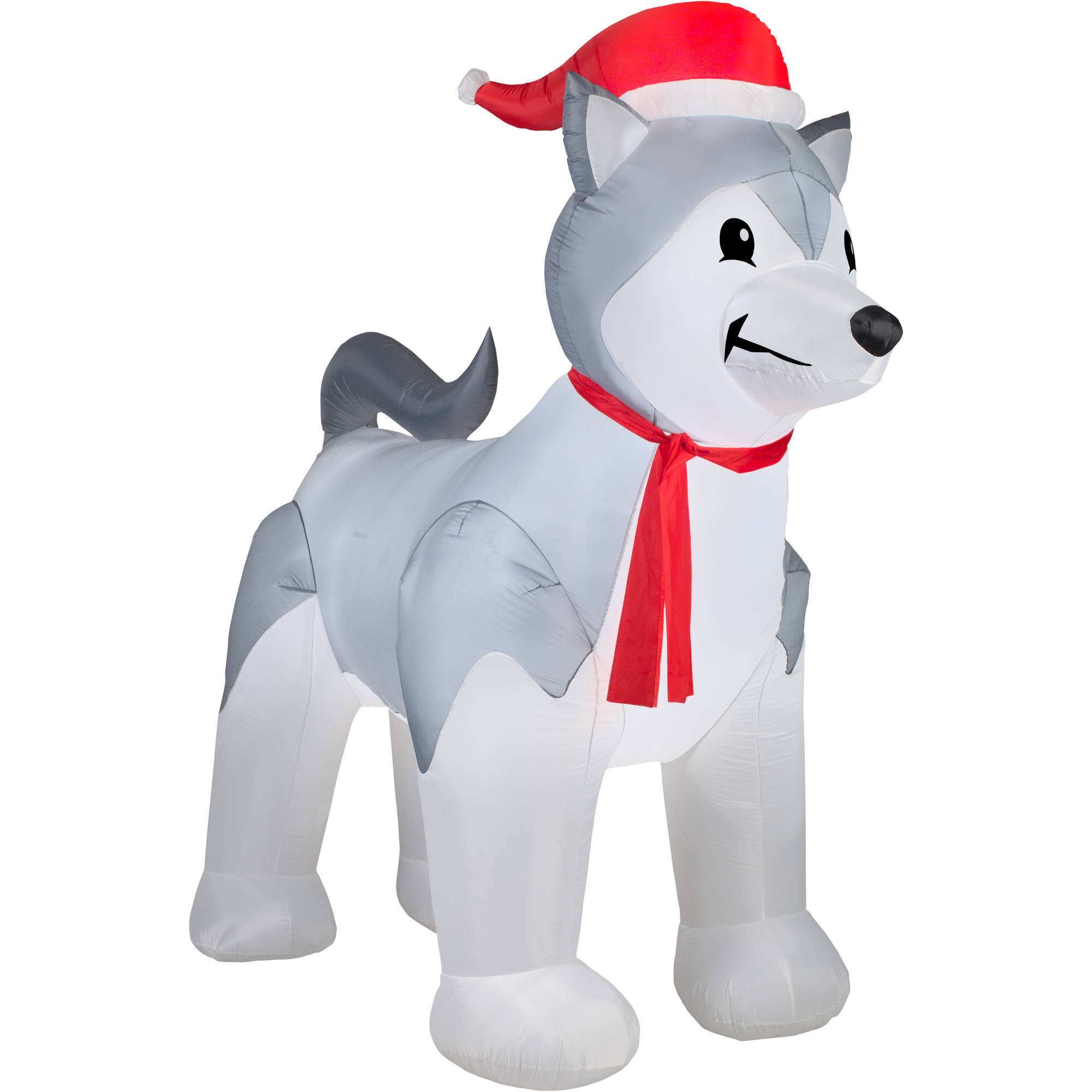 9 airblown inflatable husky christmas inflatable walmartcom - Husky Christmas Decoration