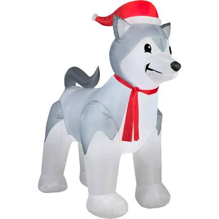 9' Airblown Inflatable Husky Christmas Inflatable