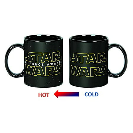 Star Wars/ Force Awakens Logo Heat Reveal 20oz Ceramic Coffee Mug ()