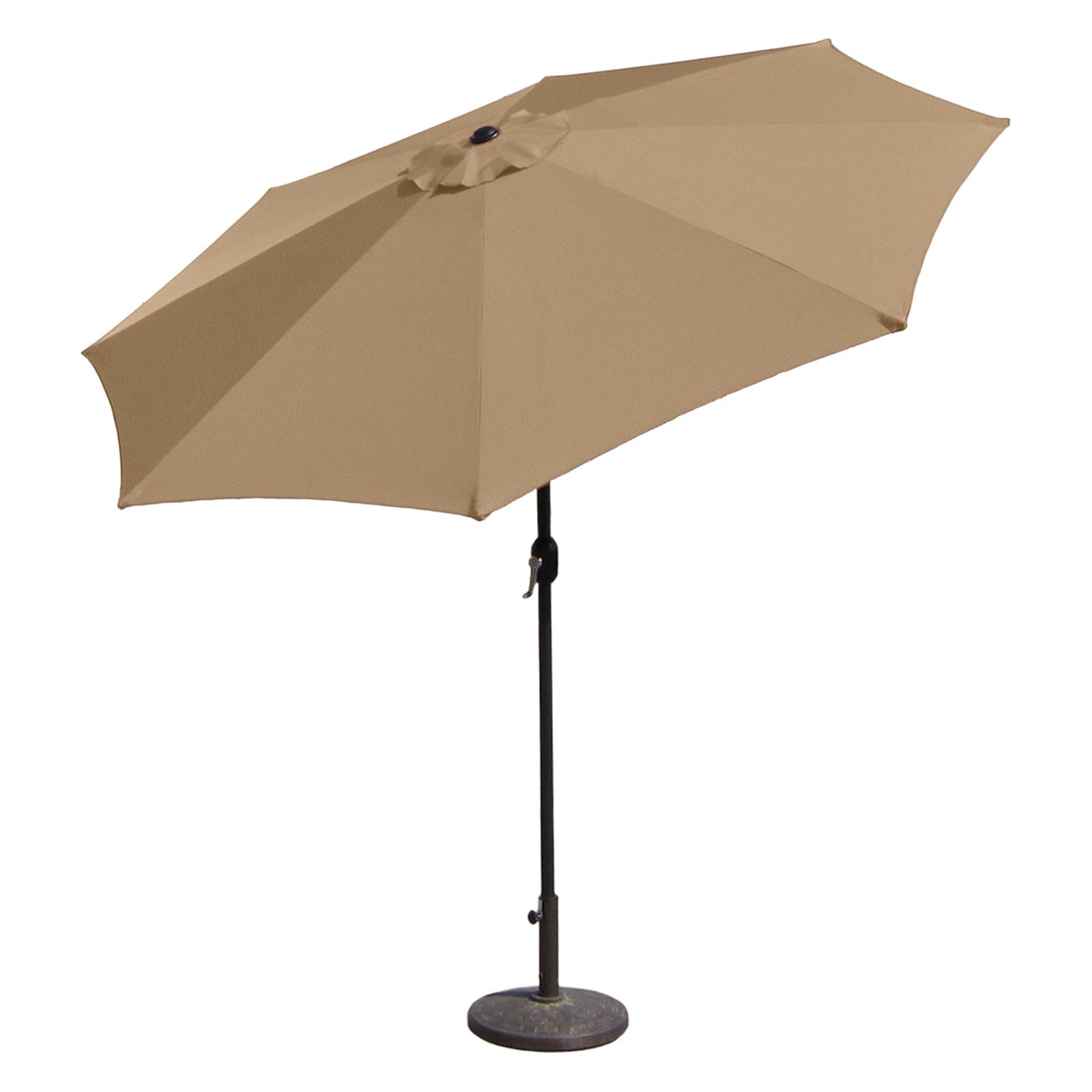 Aluminum Patio Umbrella with Crank Lift and Tilt Function, 7' by Budge Industries