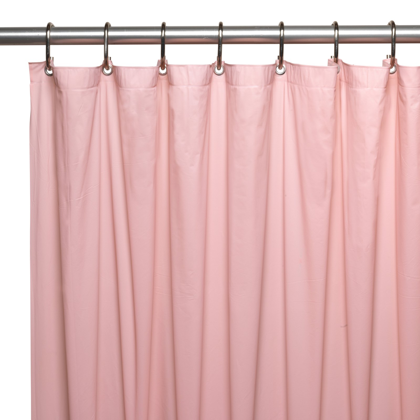 Hotel Collection, 8 Gauge Vinyl Shower Curtain Liner w/ Metal Grommets in Pink
