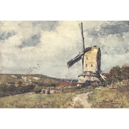Sussex 1906 Malling Mill Poster Print By  Wilfrid Ball