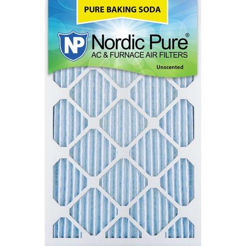 Nordic Pure Pure Baking Soda Odor Deodorizing Air Conditioner/Furnace Filter (Set of 3)