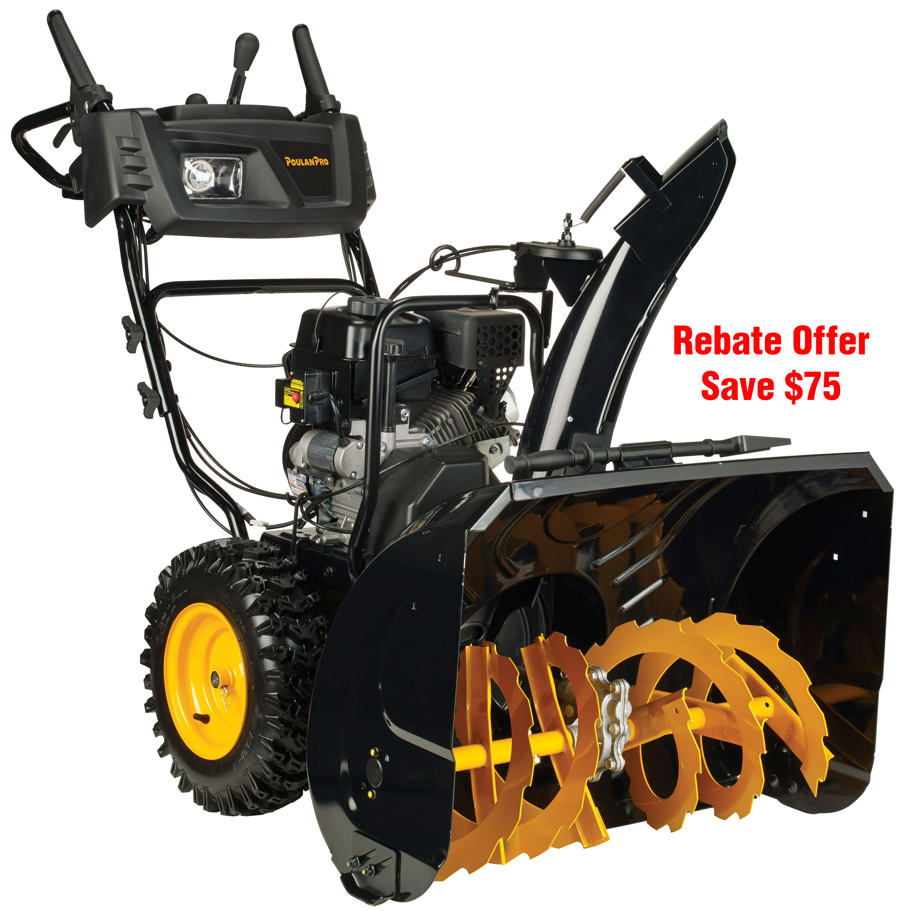 "Poulan Pro 30"" 254cc Two-Stage Snow Thrower with Power Steering, Heated Handles, Electric"