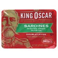 (2 Pack) King Oscar Wild Caught Sardines in Olive Oil, 3.75 oz