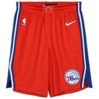 Greg Monroe Philadelphia 76ers Game-Used #55 Red Shorts from Game 7 of the Eastern Conference Semi-Finals vs. Toronto Raptors on May 12th - Size 42+2 - Fanatics Authentic Certified