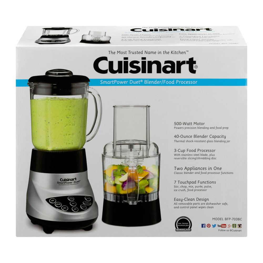 Cuisinart smartpower duet blender and food processor - Cuisinart Smartpower Duet Food Processor 7 Speed Blender Brushed Chrome Bfp 703bc Walmart Com