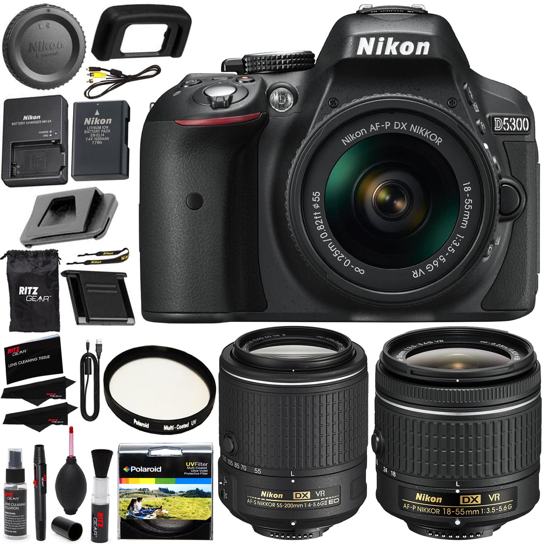 Nikon D5300 Digital SLR Camera 18-55mm f/3.5-5.6G ED VR A...
