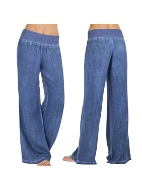 35abbe4b6e Product Image Amaping Women Casual High Waist Elasticity Denim Wide Leg  Palazzo Pants Jeans Trousers