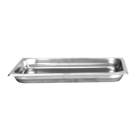 Thunder Group STPA8121, Half Size Stainless Steel 1.25-Inch Deep 24 Gauge Anti Jam Pans