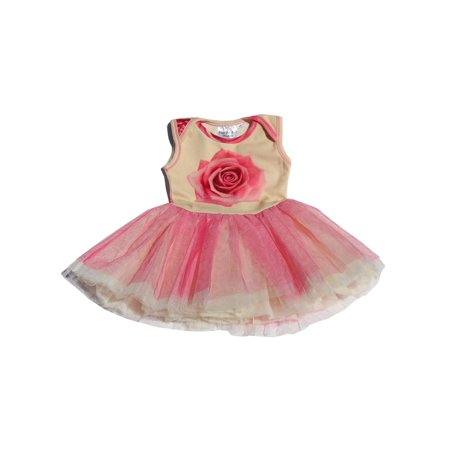 Ooh! La, La! Couture Baby Girls Candy Pink Floral Print Bodysuit - Infant Couture Dresses