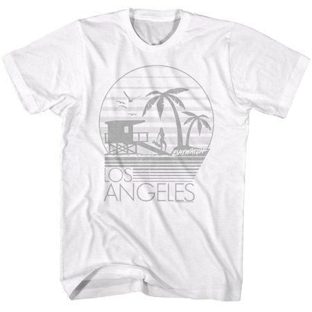 American Classics Baywatch LA White Adult Unisex T-Shirt