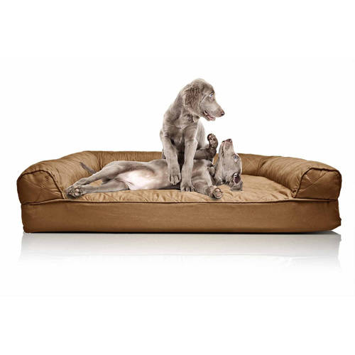 Furhaven Quilted Sofa Dog Bed, Medium, Navy