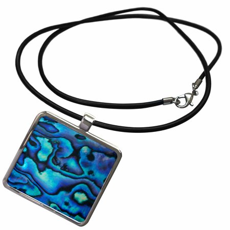 3dRose Pattern of Paua Shell (Abalone), New Zealand-AU02 DWA4678 - David Wall - Necklace with Pendant (ncl_73908_1)