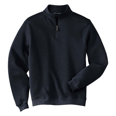 Port Authority Mens Perfect Flatback Rib 1 4 Zip Pullover