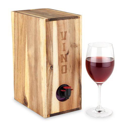 Wine Boxes, Country Home Rustic Gift Storage Display Box Wood Wine, Acacia Wood