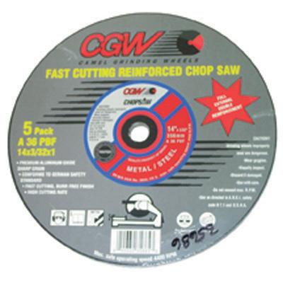 Chop Saw Blades 5Pk by CGW Abrasive