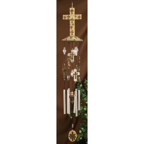Carpentree Faith Multicross Fancy Wind Chime by
