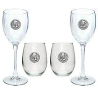 Wake Forest University Goblet Set Stemmed/Stemless Wine Glasses