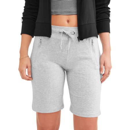 "N.Y.L. Sport Women's Athleisure 10"" Zip Pocket French Terry Bermuda Short"