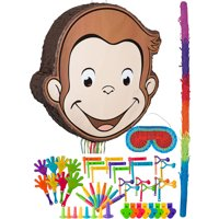 Curious George Pinata Kit for Birthday Party, with Bat, Blindfold and Favors