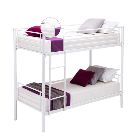 Ktaxon Modern Metal Twin over Twin Bunk Bed Frame Ladder Adult ...