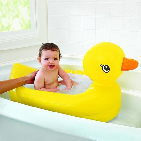 munchkin white hot duck bath toy with munchkin white hot inflatable duck tub for $<!---->