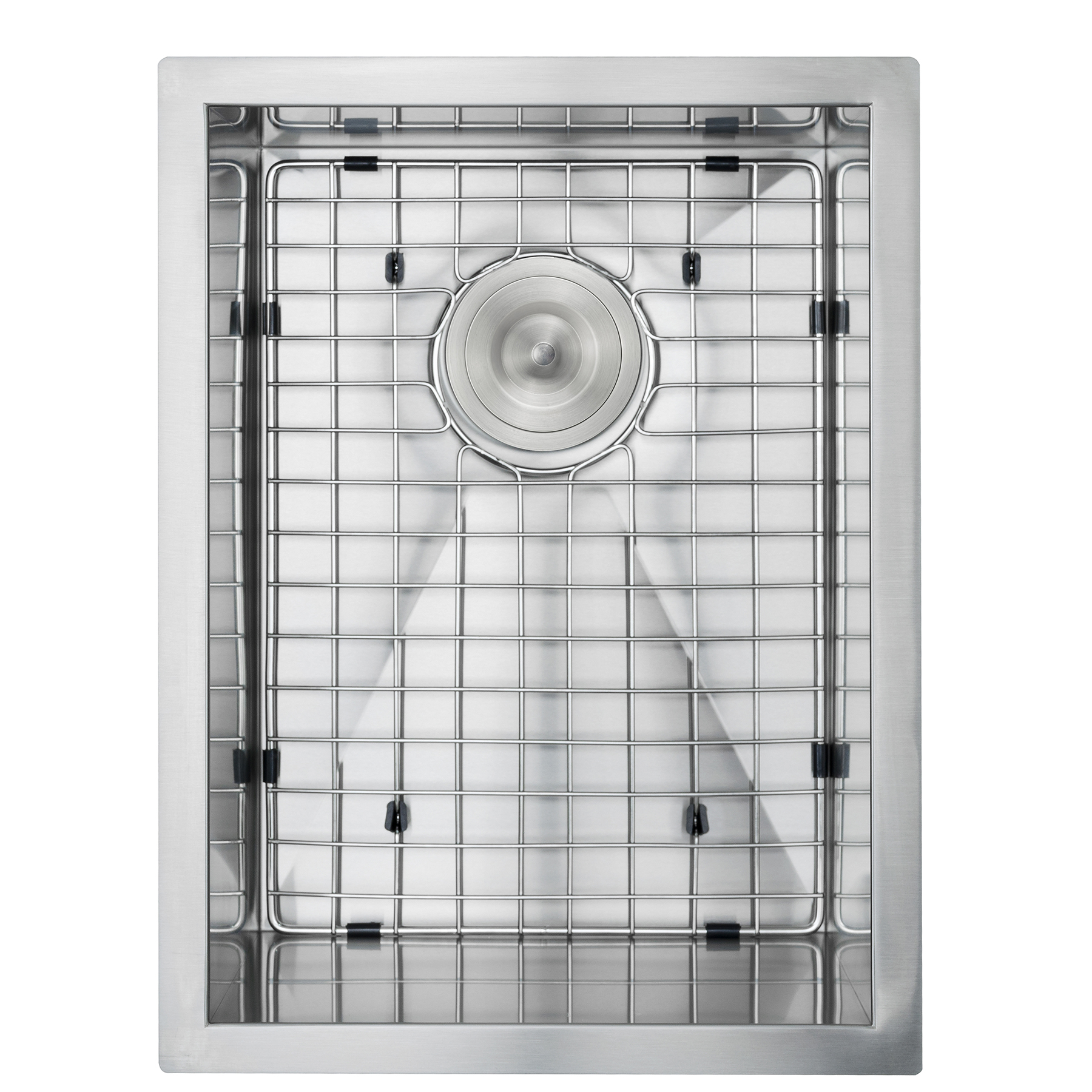 "Image of AKDY 15"" x 20"" x 9"" Handmade Under Mount Basin Stainless Steel Kitchen Sink w/ Grid & Drain Kit"