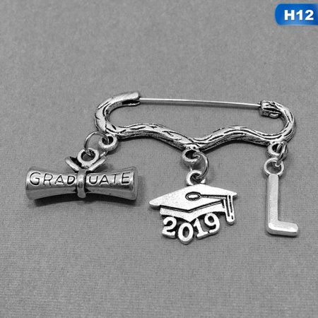 AkoaDa 2019 Happy Graduation Brooches Letters Charm Pendant Pins Best Gifts