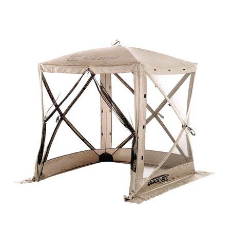 Screen Room Gazebo - Clam Quick Set Traveler Portable Camping Outdoor Gazebo Canopy Shelter, Tan