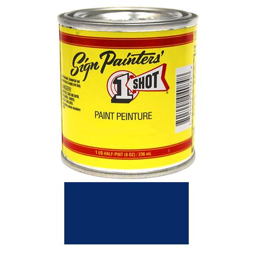 1/2 Pint 1 Shot DARK BLUE Paint Lettering Enamel Pinstriping & Graphic Art