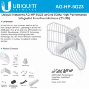 Ubiquiti AirGrid M5 HP 23dBi AG-HP-5G23, Complete antenna and radio system.