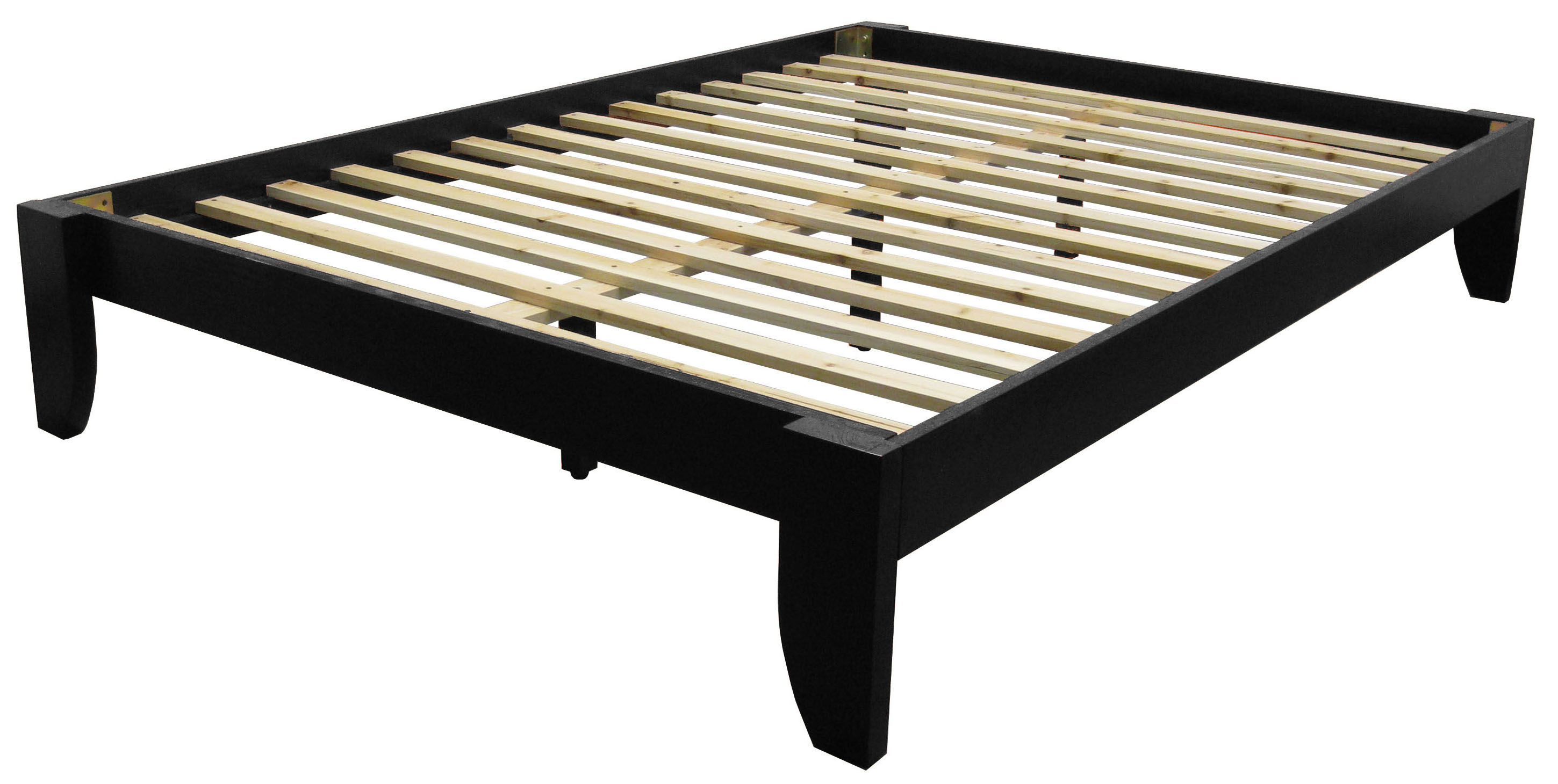 Everlast Solid Wood Bamboo Platform Bed Frame Full Size