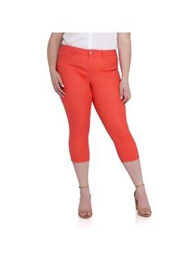 88ed68e9e8422 Product Image Women's Plus Size Hot Spot High Rise Pull on Capri