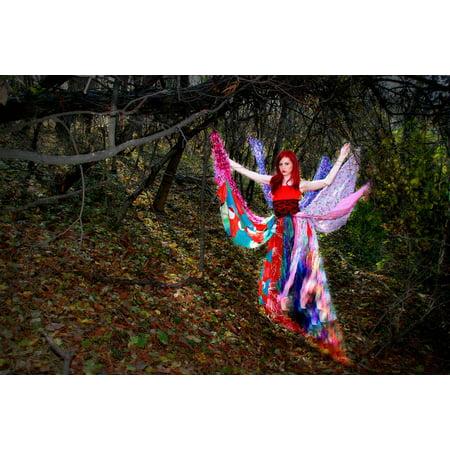 Framed Art For Your Wall Vegetation Fantasy Dress Autumn Girl Wild Forest 10x13 Frame