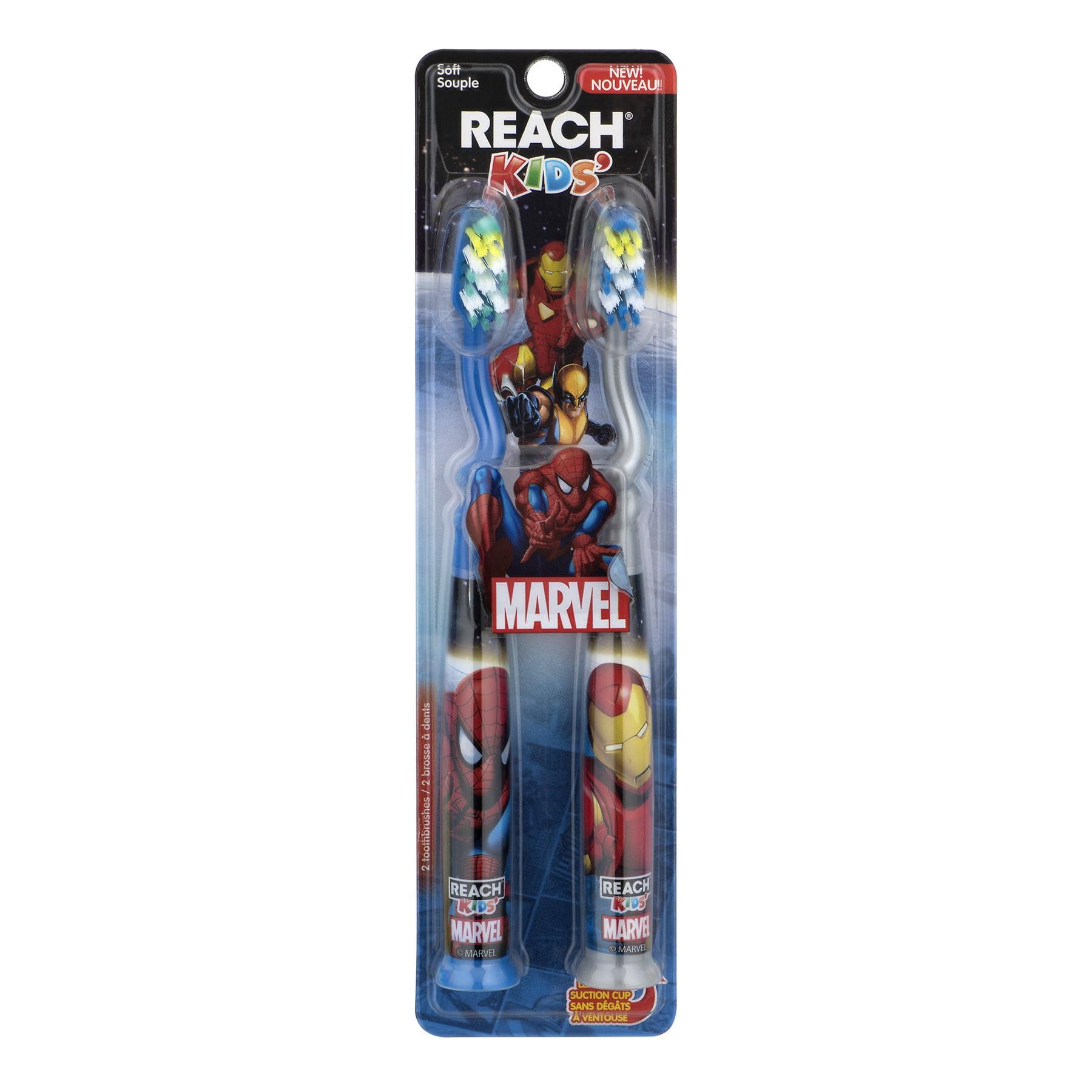 Reach Kids Marvel Hero's Soft Bi-Level Bristles Manual Toothbrushes, 2 ct