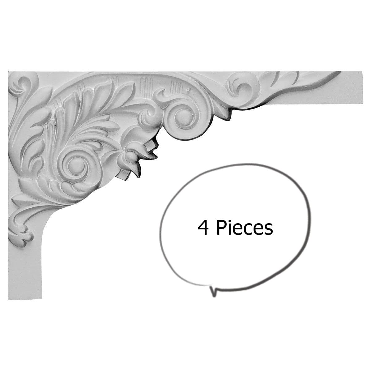 China by WI Acanthus Stair Brackets RIGHT 4 Pieces