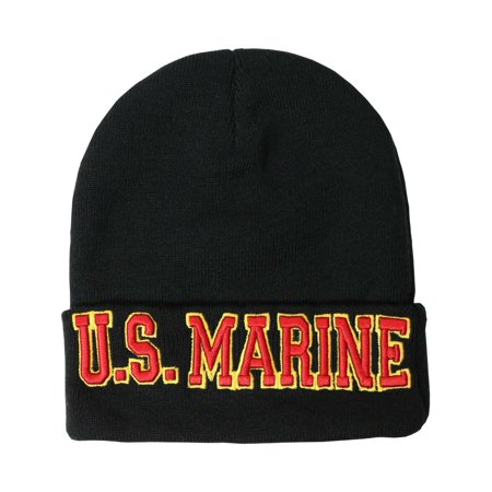 US Military BEANIE Navy Army Air Force Marine Hat Cap Purple Heart Shellback (One Size,7mb002_US Marine Red Letter)](Us Army Air Force Uniform)