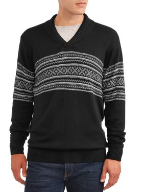 George Men's and Big Men's Geo-jacquard Sweater, up to Size 3XL