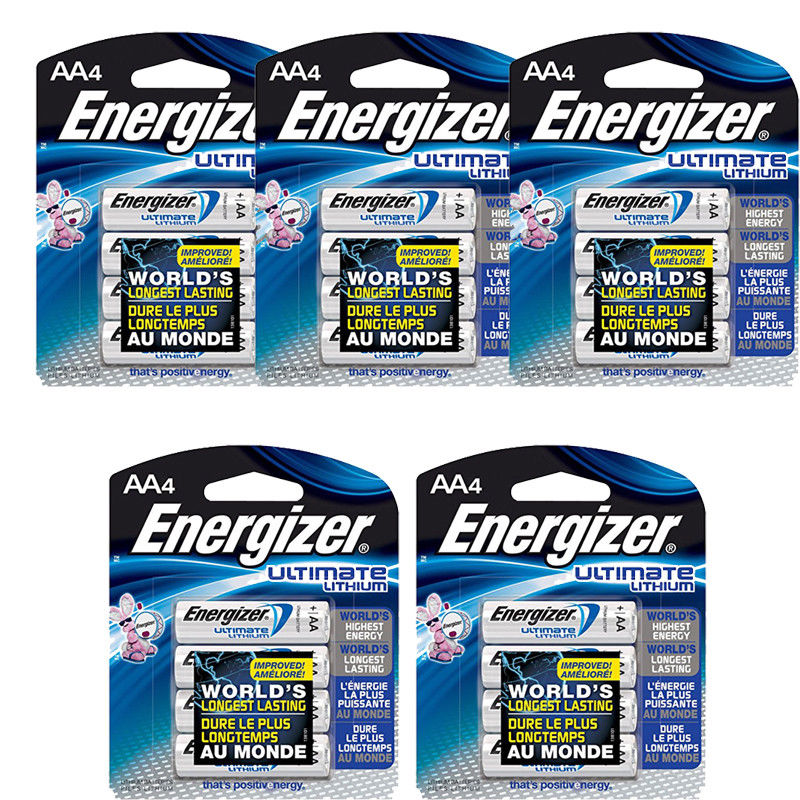 20 Pack Energizer AA Ultimate Lithium Batteries