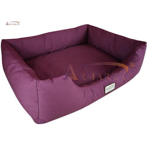 Dog Bed in Burgundy (Medium)