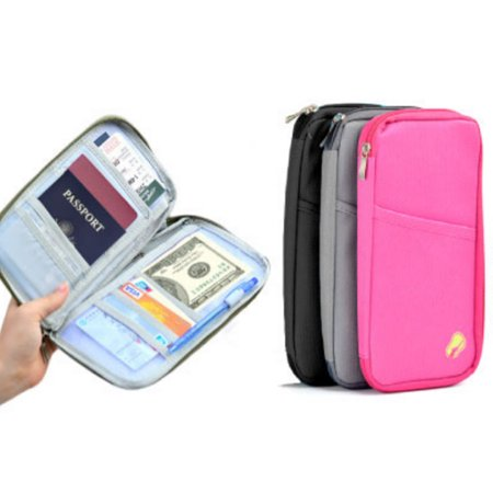 Multifunctional Travel Wallet For Passport Card Money Ticket Mobile Holder Clutch
